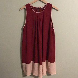 Umgee USA Dress in Cranberry/pink